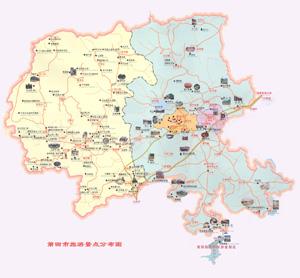 莆田旅游景点地图